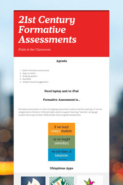 21st Century Formative Assessments