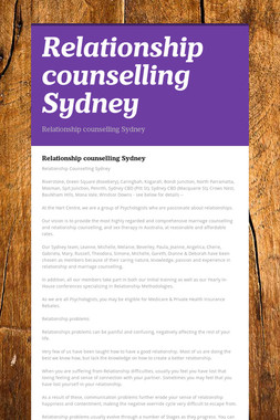 Relationship counselling Sydney
