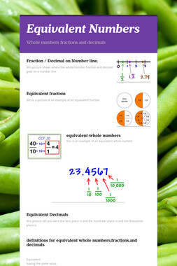 Equivalent Numbers