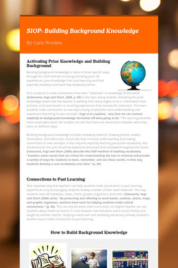 SIOP: Building Background Knowledge