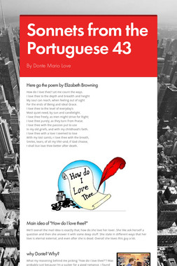 Sonnets from the Portuguese 43
