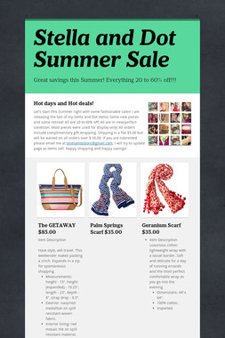 Stella and Dot Spring Sale