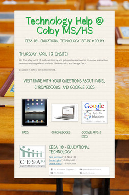 Technology Help @ Colby MS/HS