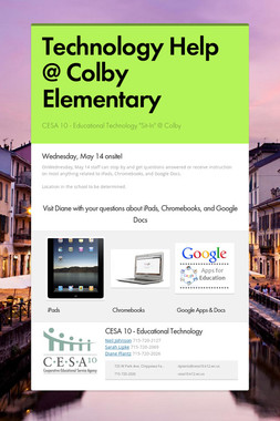 Technology Help @ Colby Elementary