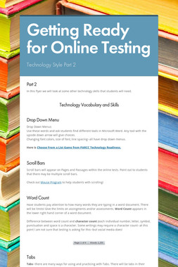 Getting Ready for Online Testing