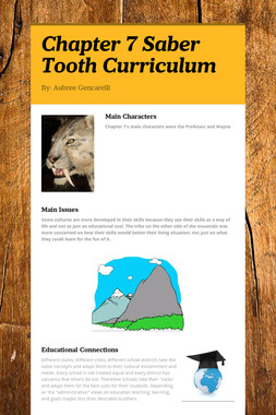 Chapter 7 Saber Tooth Curriculum