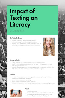 Impact of Texting on Literacy