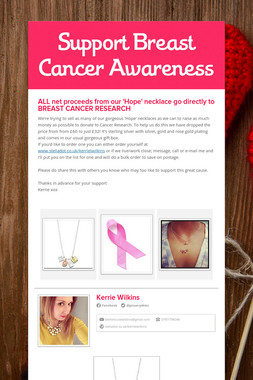 Support Breast Cancer Awareness