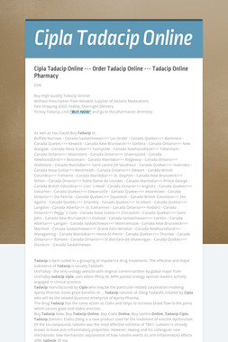 Cipla Tadacip Online