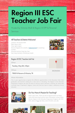Region III ESC Teacher Job Fair