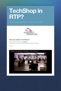 TechShop in RTP?