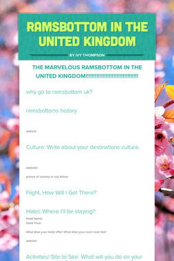 Ramsbottom In The united Kingdom