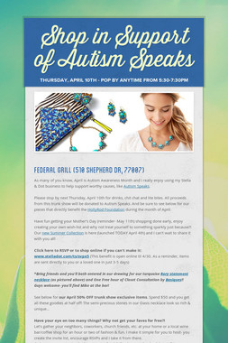 Shop in Support of Autism Speaks