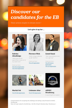 Discover our candidates for the EB