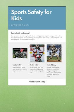 Sports Safety for Kids
