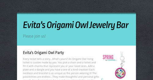 Evitas Origami Owl Jewelry Bar Smore Newsletters