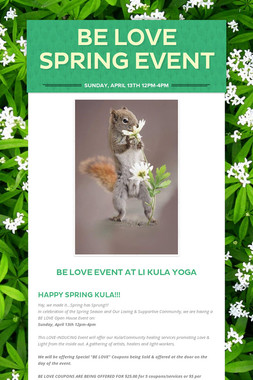 Be LOVE Spring Event