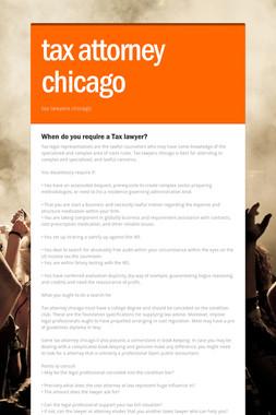 tax attorney chicago