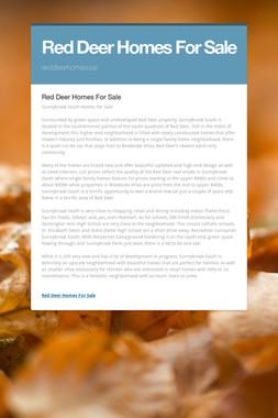 Red Deer Homes For Sale