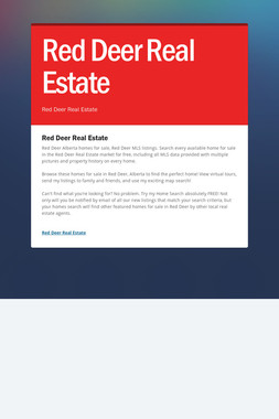 Red Deer Real Estate