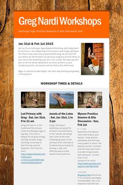 Greg Nardi Workshops