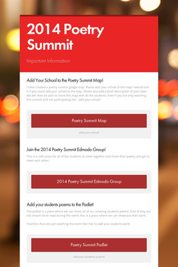 2014 Poetry Summit