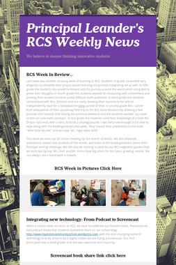 Principal Leander's RCS Weekly News