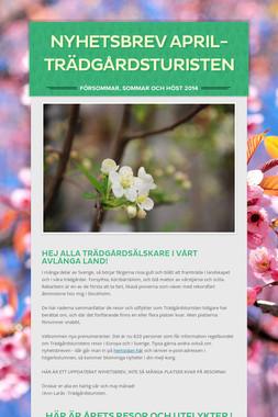 Nyhetsbrev april- Trädgårdsturisten