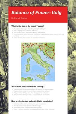 Balance of Power: Italy