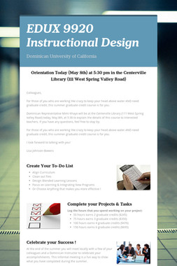 EDUX 9920 Instructional Design