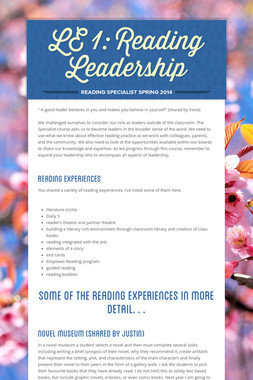 LE 1: Reading Leadership