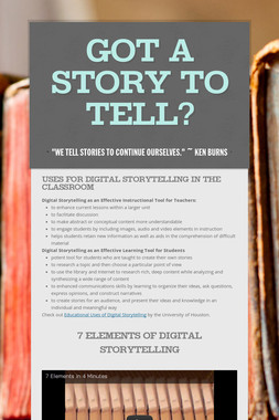 Got a Story to Tell?