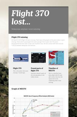 Flight 370 lost...