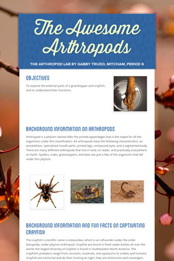 The Awesome Arthropods