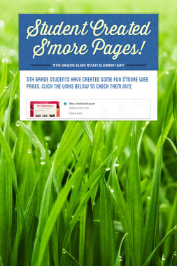 Student Created S'more Pages!