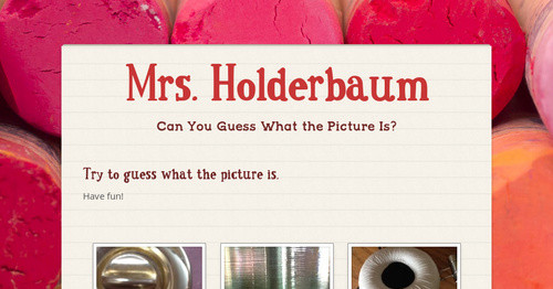 Mrs. Holderbaum