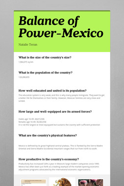Balance of Power-Mexico