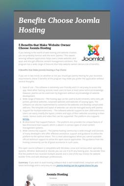 Benefits Choose Joomla Hosting