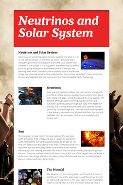 Neutrinos and Solar System