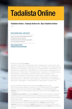 Tadalista Online