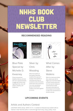 NHHS Book Club Newsletter
