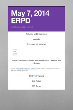 May 7, 2014 ERPD