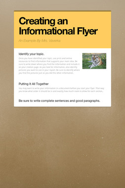Creating an Informational Flyer