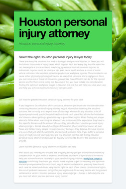 Houston personal injury attorney