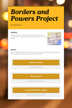 Borders and Powers Project