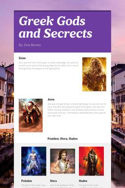 Greek Gods and Secrects