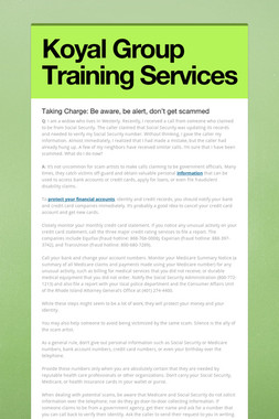 Koyal Group Training Services