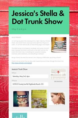 Jessica's Stella & Dot Trunk Show