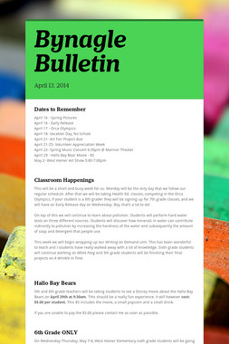Bynagle Bulletin