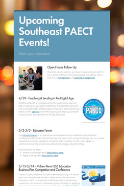 Upcoming Southeast PAECT Events!